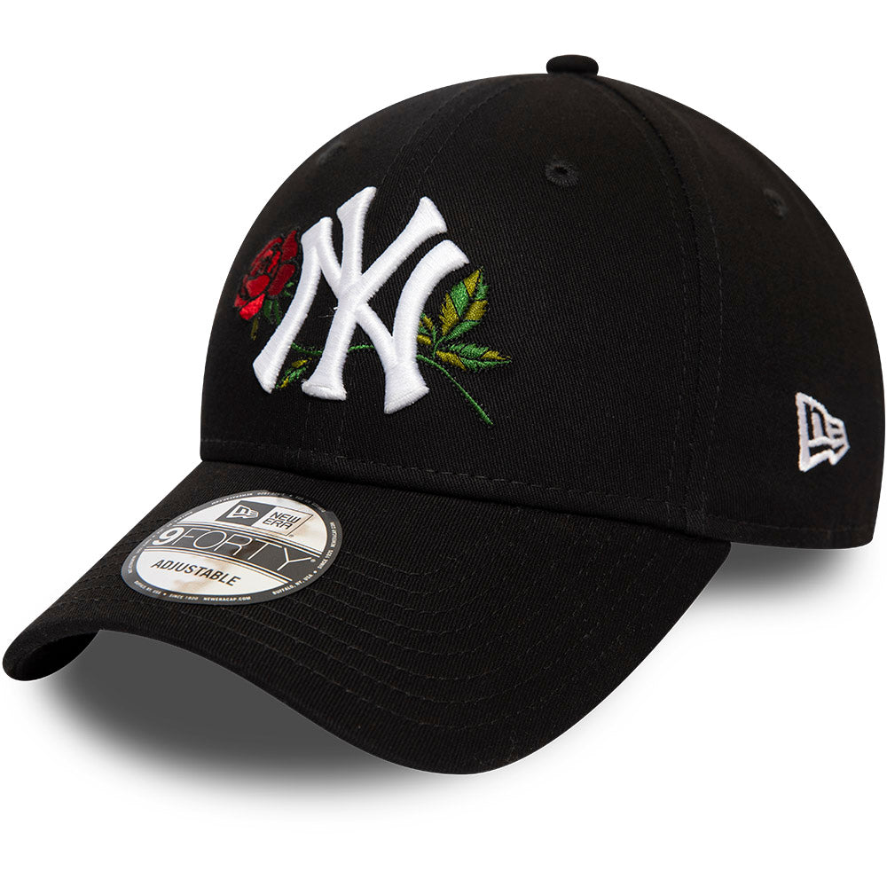 NY Yankees New Era 940 Mens Twine MLB Black Cap