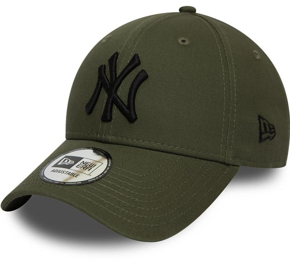 NY Yankees New Era 940 League Essential Olive Baseball Cap