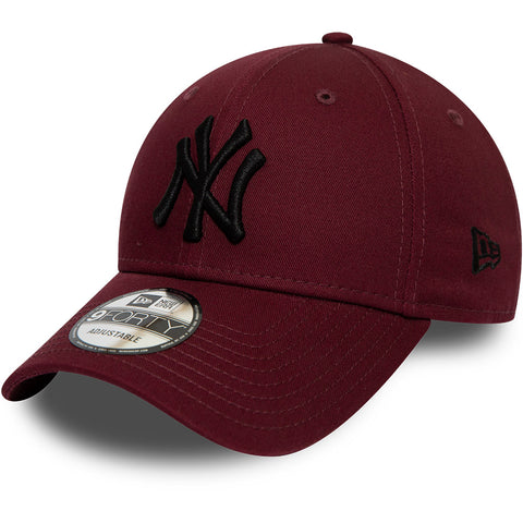 NY Yankees New Era 940 League Essential Maroon Baseball Cap