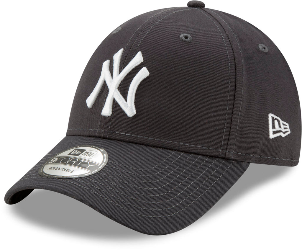 New Era 940 League Essential NY Yankees Adjustable Graphite Baseball Cap - lovemycap