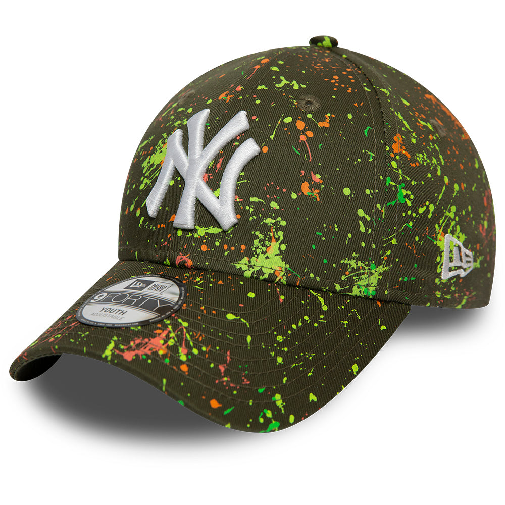 NY Yankees Kids New Era 940 Paint Pack Olive Baseball Cap (Ages 2 - 10 years) - pumpheadgear, baseball caps