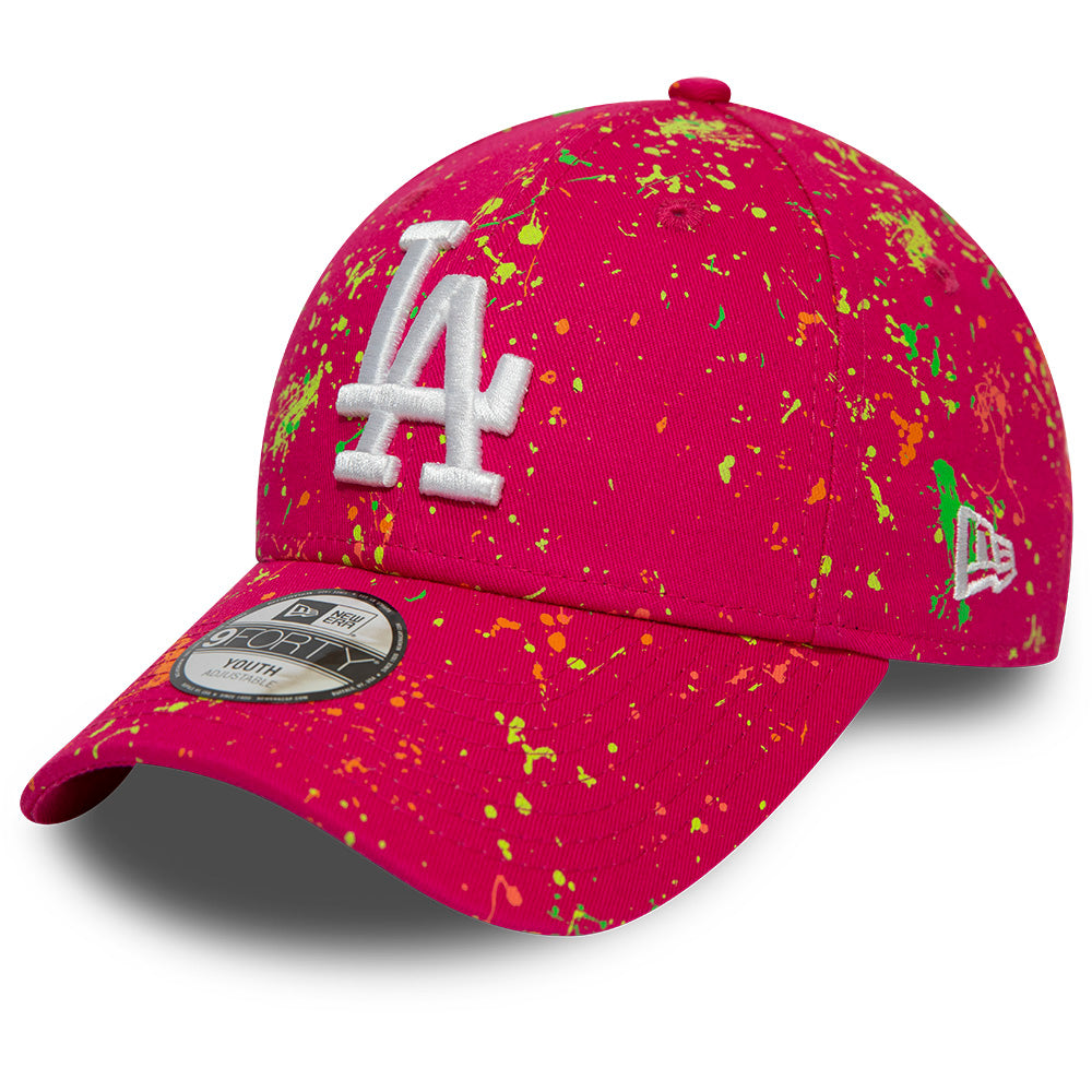 LA Dodgers Kids New Era 940 Paint Pack Pink Baseball Cap (Ages 2 - 10 years)