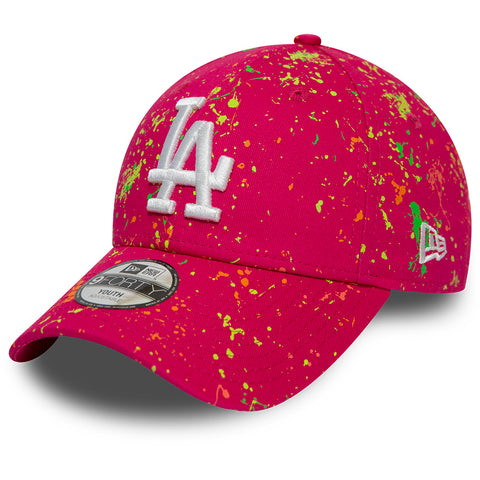 LA Dodgers Kids New Era 940 Paint Pack Pink Baseball Cap (Ages 2 - 10 years) - pumpheadgear, baseball caps