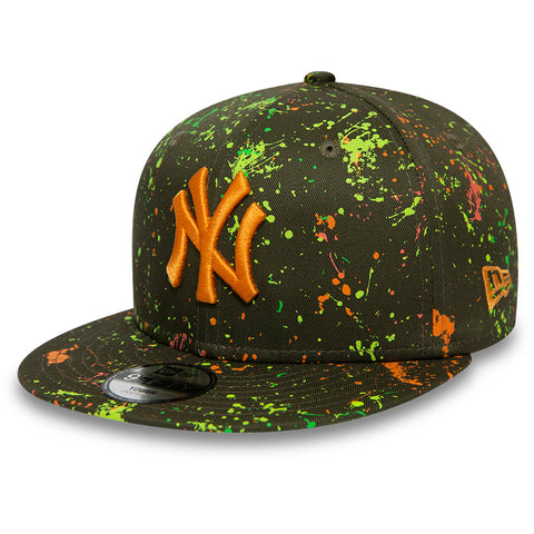 NY Yankees New Era Kids 950 Paint Pack Olive Snapback Cap (Age 4 - 10 years)