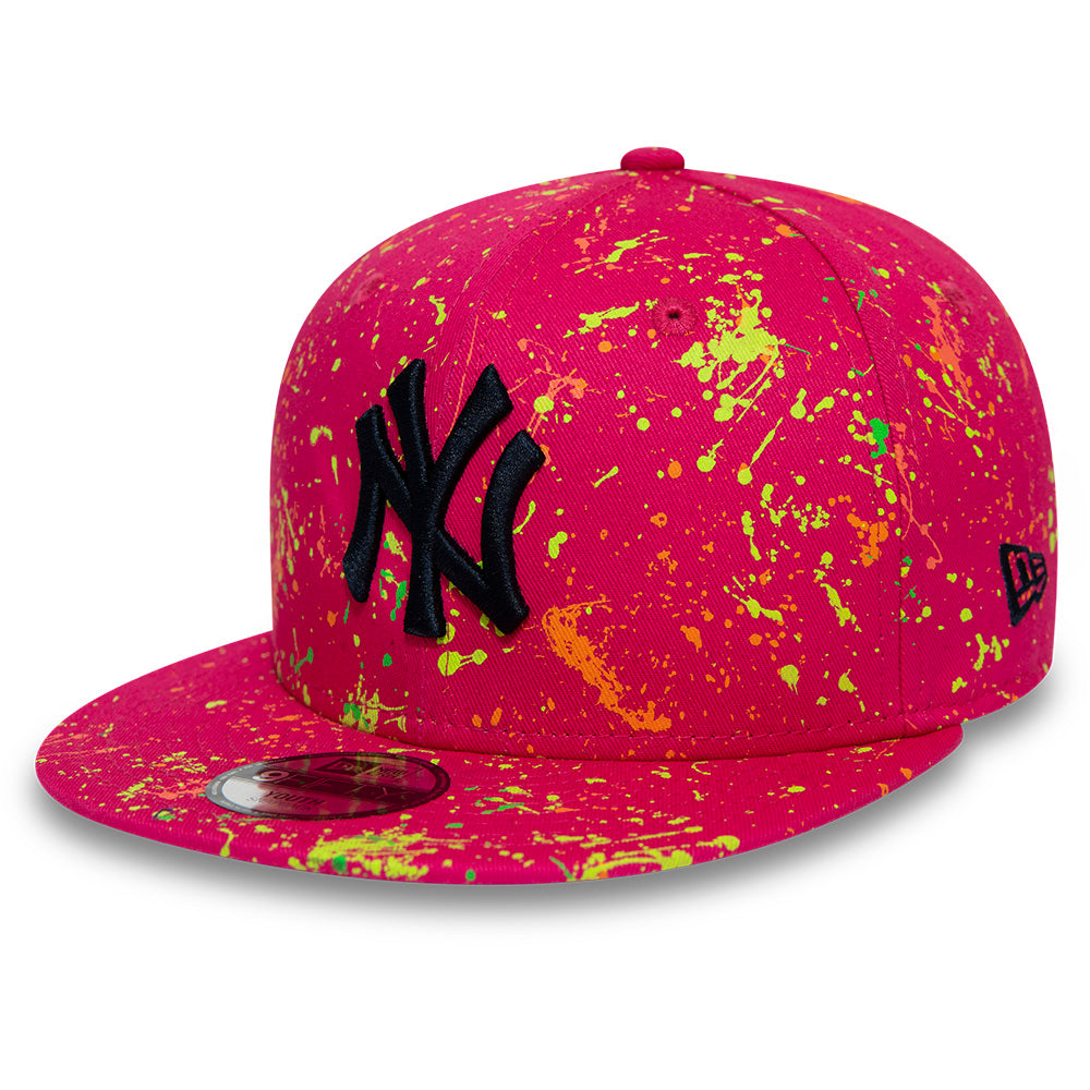 NY Yankees New Era Kids 950 Paint Pack Pink Snapback Cap (Age 4 - 10 years)
