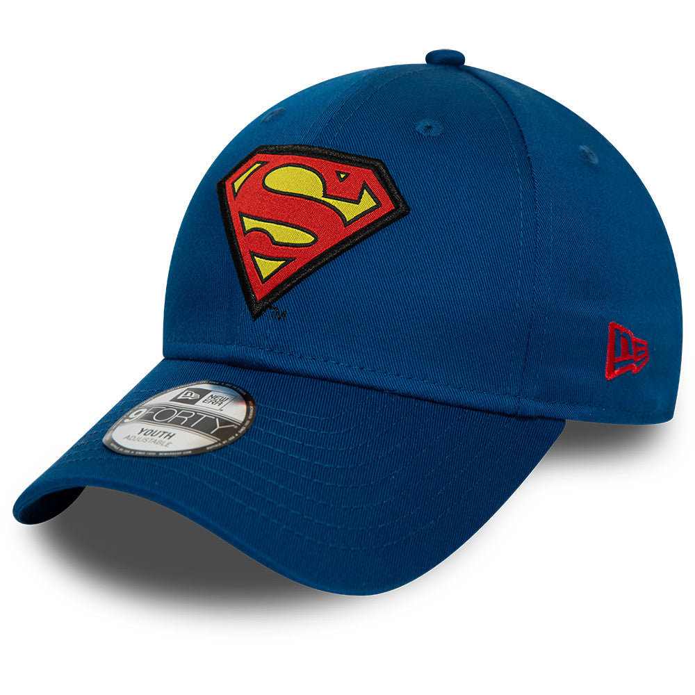 Superman New Era 940 DC Comics Kids Character Grey Cap (Ages 2 - 10 years) - pumpheadgear, baseball caps