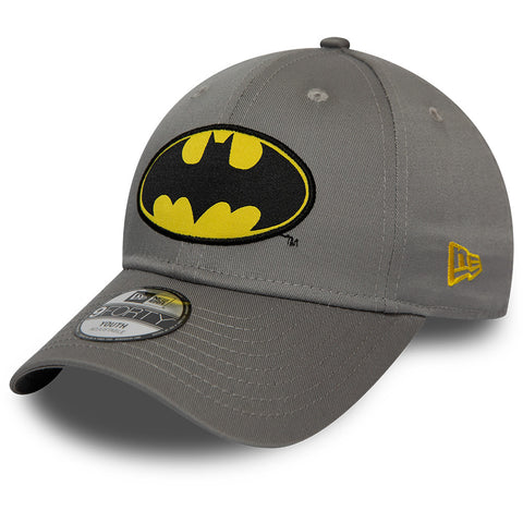 Batman New Era 940 DC Comics Kids Character Grey Cap (Ages 2 - 10 years) - pumpheadgear, baseball caps