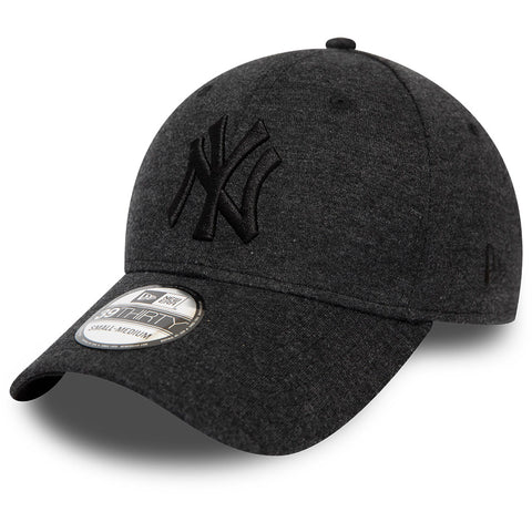 NY Yankees New Era 3930 Jersey Essential Stretch Fit Black Baseball Cap