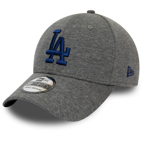 LA Dodgers New Era 3930 Jersey Essential Stretch Fit Grey Baseball Cap
