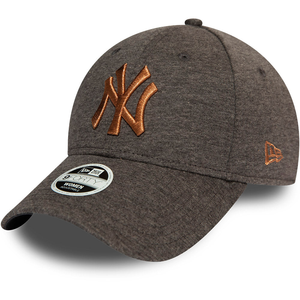 NY Yankees Womens New Era 940 Metalic Logo Baseball Cap