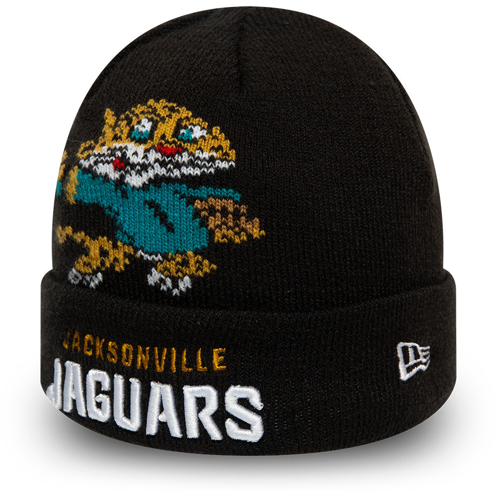 Jacksonville Jaguars New Era Infant Mascot NFL Knit Beanie (0 - 2 years)