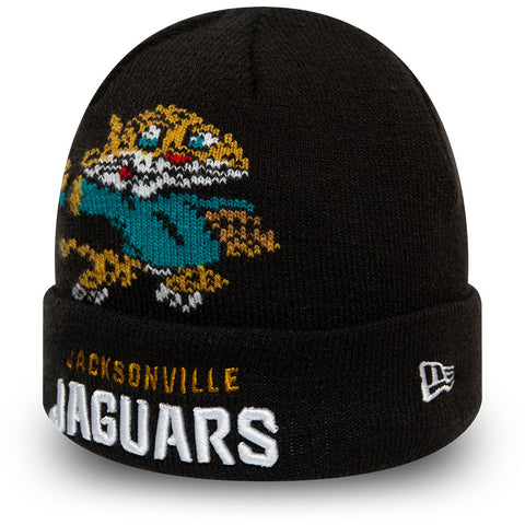 Jacksonville Jaguars New Era Infant Mascot NFL Knit Beanie (0 - 2 years) - pumpheadgear, baseball caps
