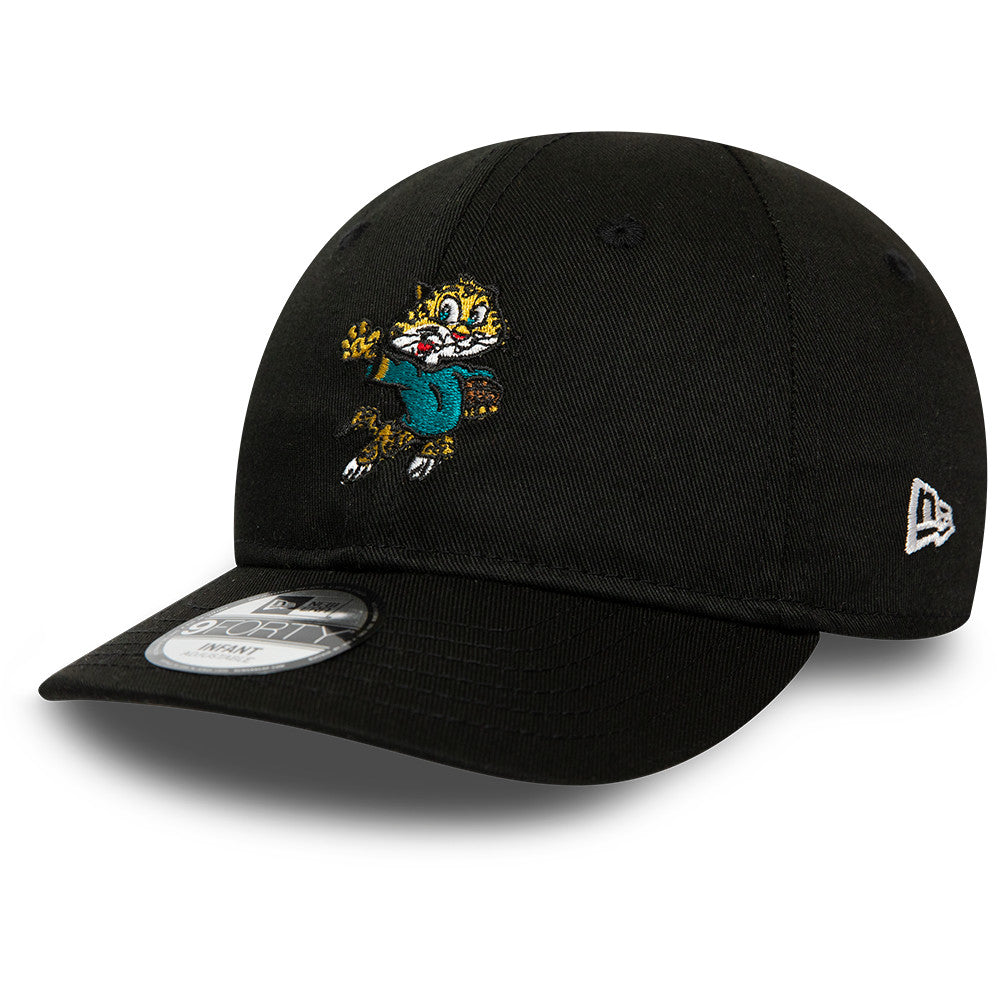 Jacksonville Jaguars New Era 940 Infants NFL Mascot Stretch Fit Cap (0-2 years) - pumpheadgear, baseball caps