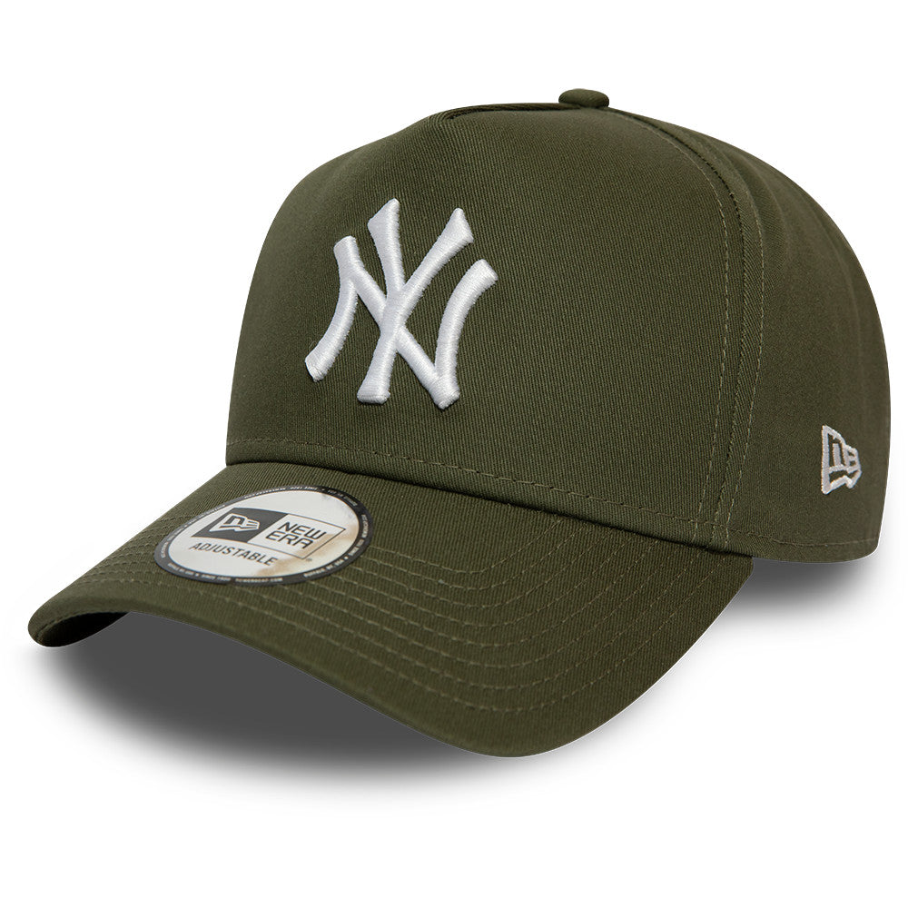 NY Yankees New Era Kids League Essential A-Frame Olive Cap (Age 6 - 10 years) - pumpheadgear, baseball caps