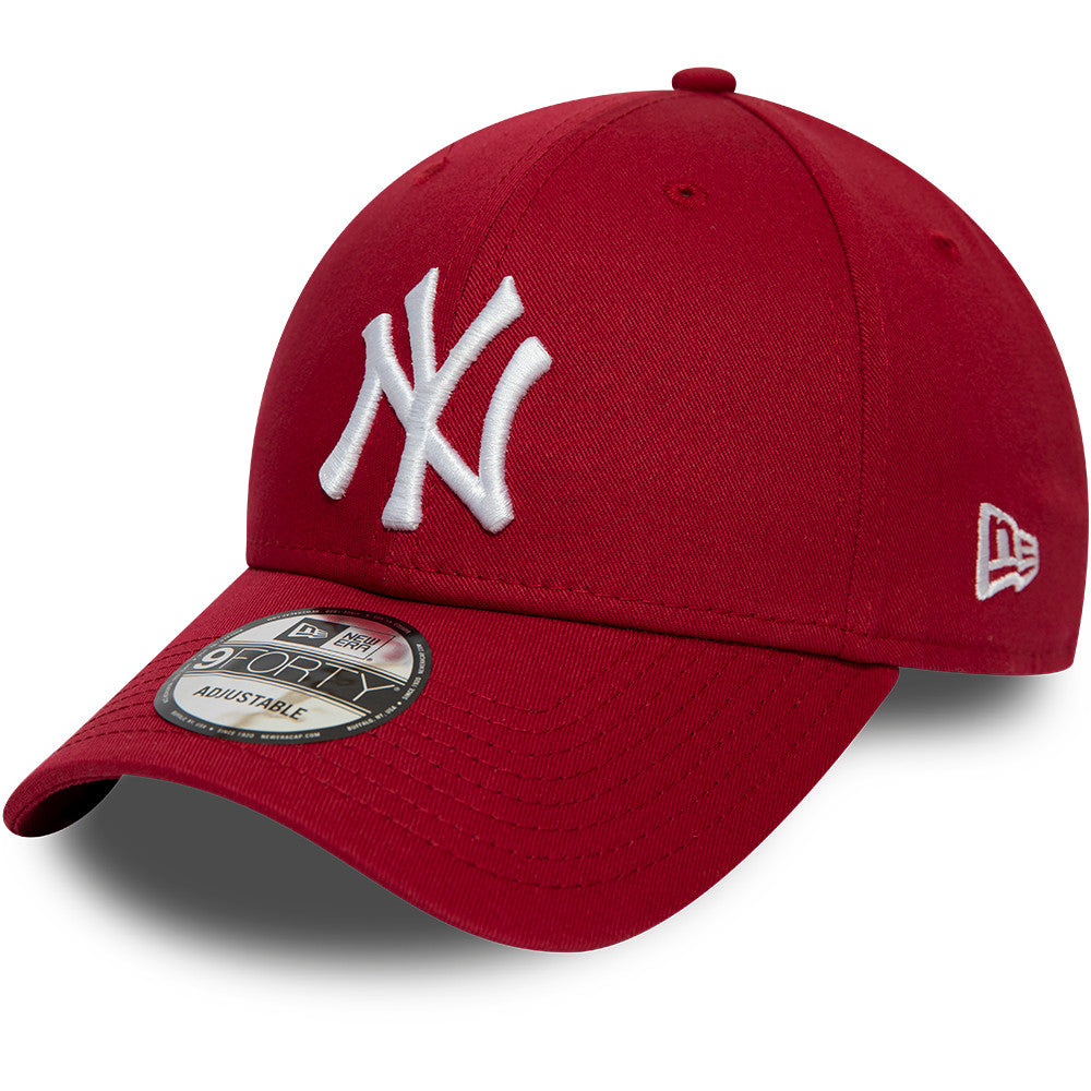 NY Yankees Kids New Era 940 Cardinal Baseball Cap (Ages 2 - 10 years)