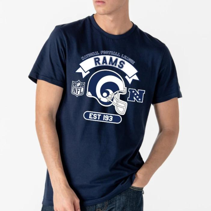 Los Angeles Rams New Era NFL Graphic Helmet TShirt - pumpheadgear, baseball caps