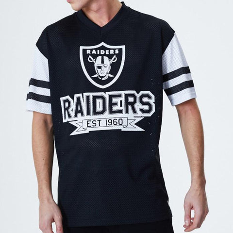 Las Vegas Raiders New Era NFL Team Contrast Sleeve Oversized TShirt - lovemycap