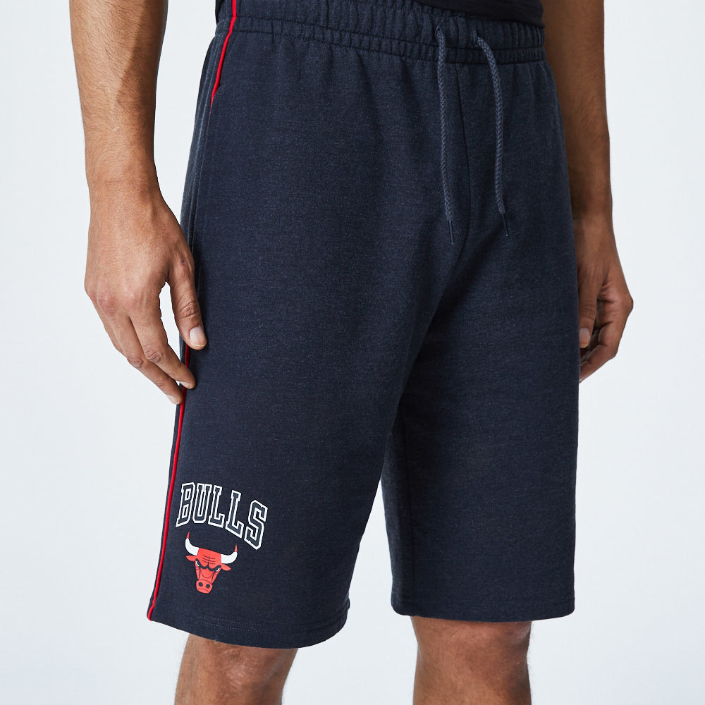 Chicago Bulls New Era NBA Team Piping Graphite Shorts - pumpheadgear, baseball caps