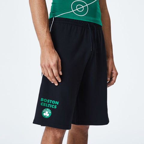 Boston Celtics New Era NBA Team Piping Black Shorts - pumpheadgear, baseball caps