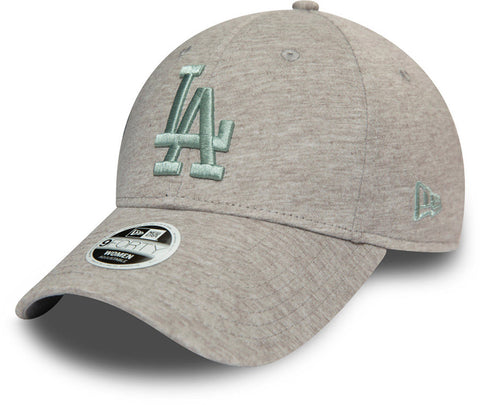 LA Dodgers Womens New Era 940 Jersey Essential Grey Baseball Cap - pumpheadgear, baseball caps