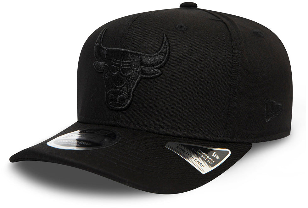 Chicago Bulls New Era 950 Tonal Black Stretch Snapback Cap