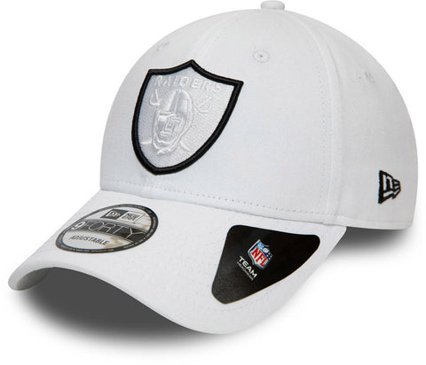 Raiders New Era 940 NFL Team White Cap - pumpheadgear, baseball caps