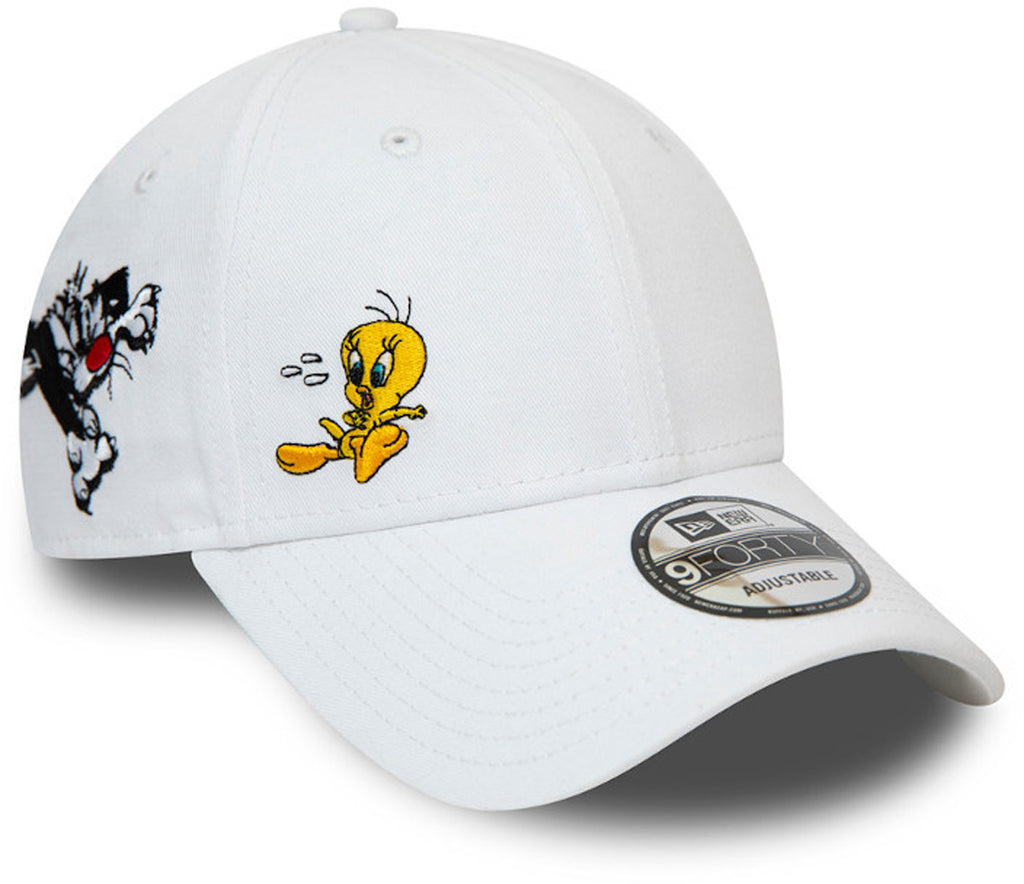 Tweety Pie New Era 940 Looney Tunes Chase White Cap - pumpheadgear, baseball caps