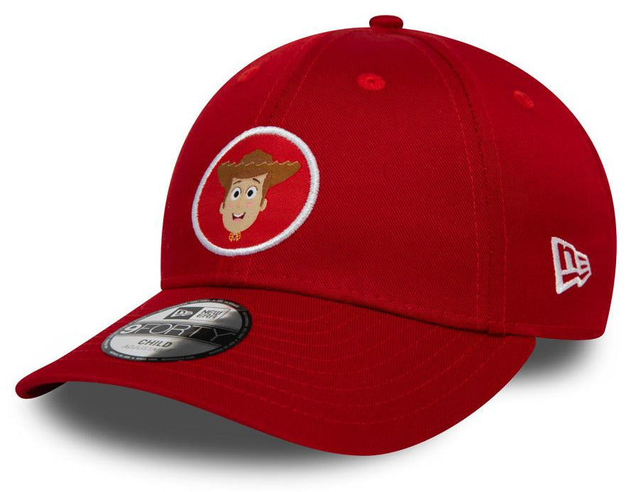 Toy Story Kids New Era 940 Woody Scarlet Cap (Ages 2 - 10 years) - pumpheadgear, baseball caps