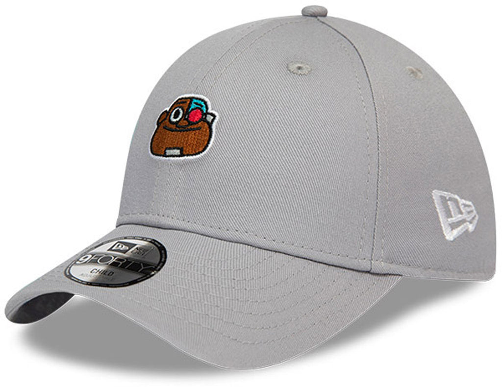 Teen Titans Kids New Era 940 Cyborg Grey Cap (Ages 2 - 10 years) - pumpheadgear, baseball caps