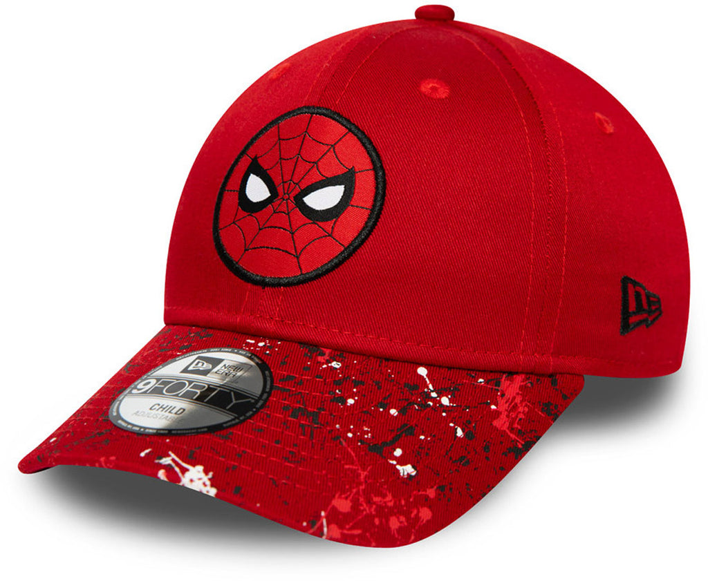 Spiderman New Era 940 Kids Character Marvel Comics Spec Red Cap (Ages 2 - 10 years)