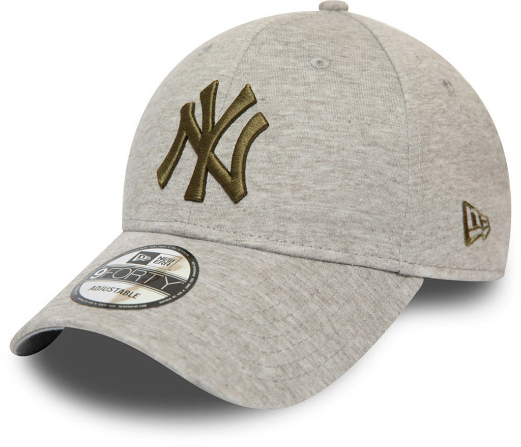 NY Yankees New Era 940 Jersey Essential Grey Baseball Cap - pumpheadgear, baseball caps