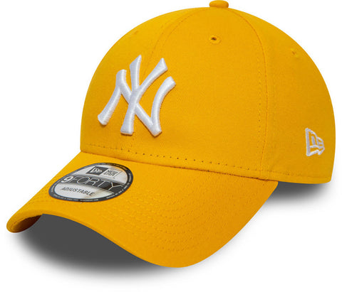 NY Yankees New Era 940 Essential Bright Yellow Baseball Cap - pumpheadgear, baseball caps