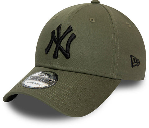 NY Yankees New Era 940 Essential Olive Baseball Cap - pumpheadgear, baseball caps
