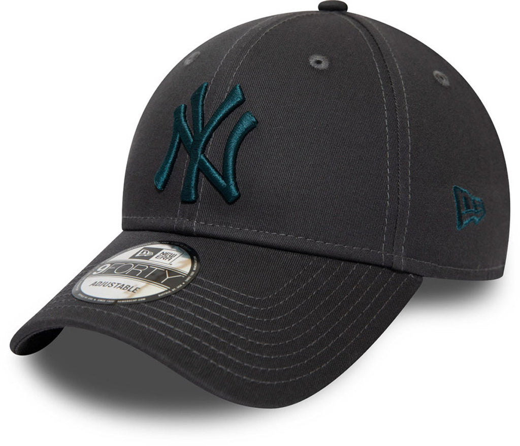 NY Yankees New Era 940 Essential Graphite Baseball Cap - pumpheadgear, baseball caps