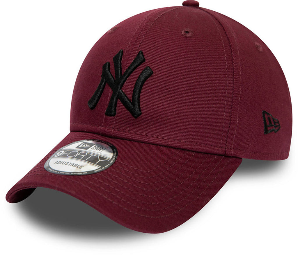NY Yankees New Era 940 Essential Maroon Baseball Cap - pumpheadgear, baseball caps