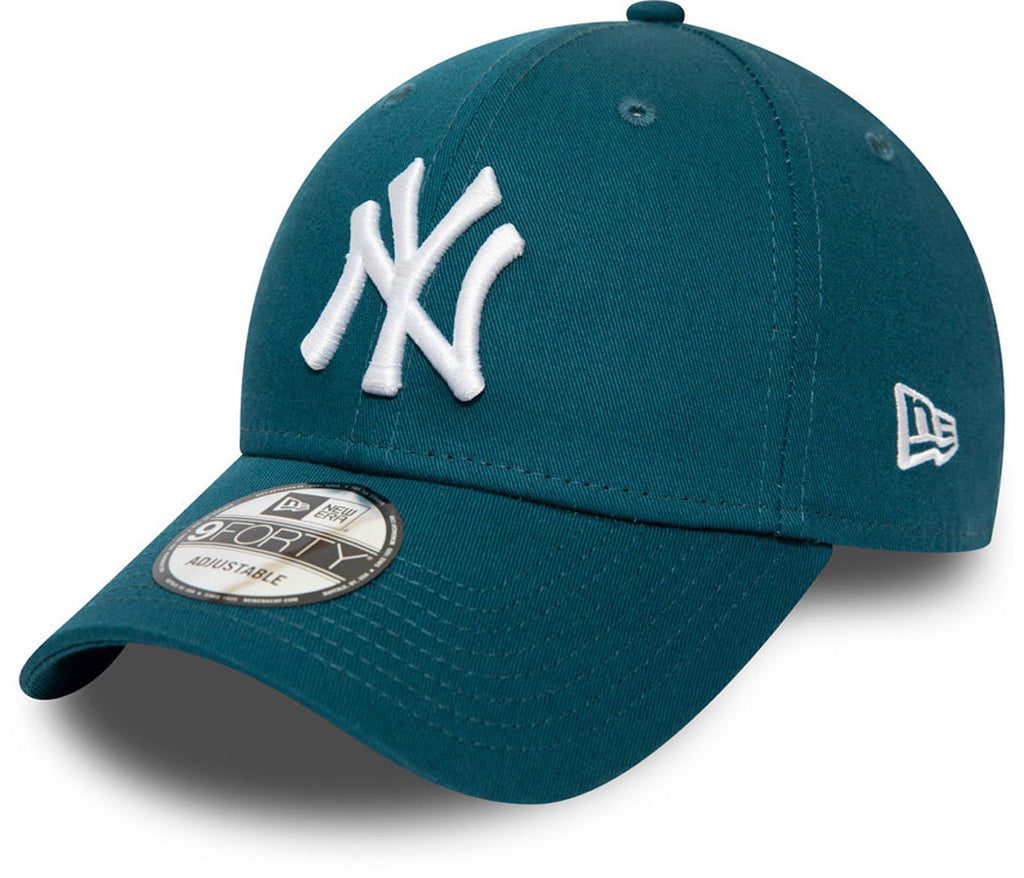NY Yankees New Era 940 Essential Blue Baseball Cap - pumpheadgear, baseball caps