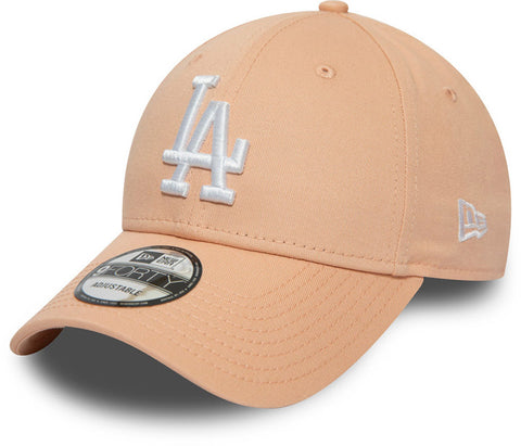 LA Dodgers New Era 940 Essential Pink Baseball Cap - pumpheadgear, baseball caps