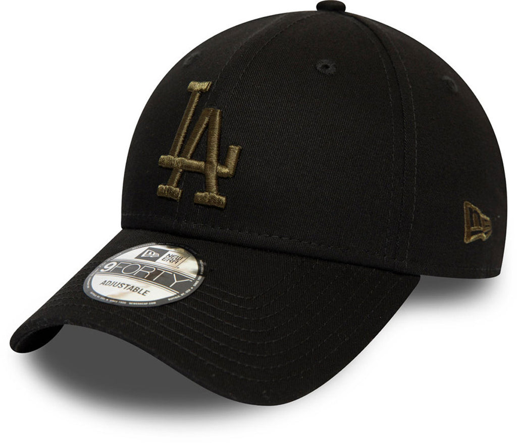 LA Dodgers New Era 940 Essential Black Baseball Cap - pumpheadgear, baseball caps