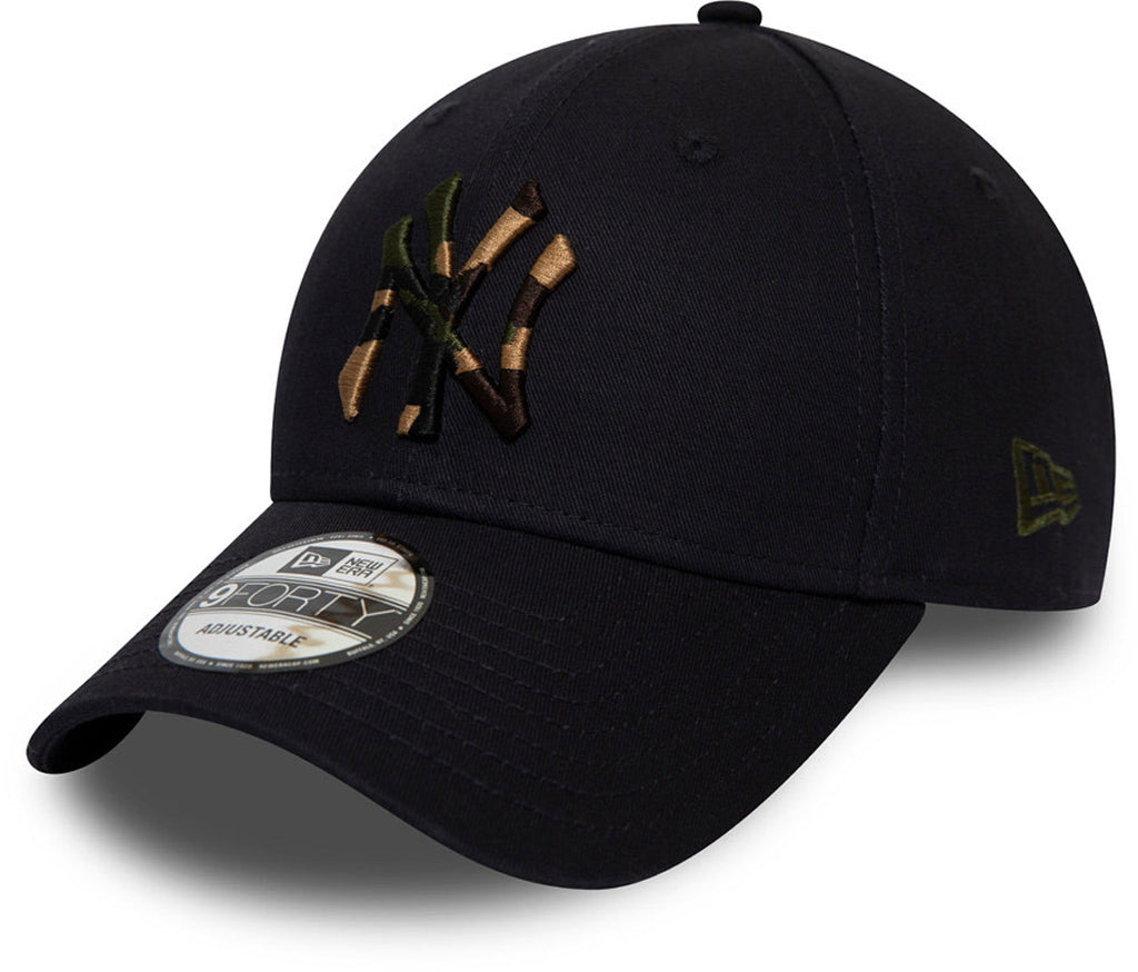 NY Yankees New Era 940 Camo Infill Navy Blue Baseball Cap - pumpheadgear, baseball caps
