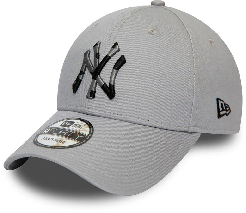 NY Yankees New Era 940 Camo Infill Grey Baseball Cap - pumpheadgear, baseball caps