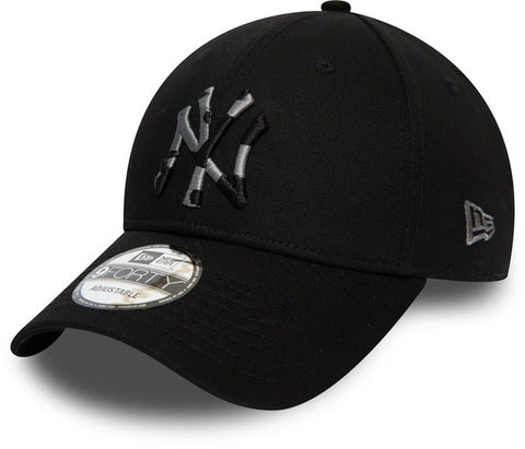 NY Yankees New Era 940 Camo Infill Black Baseball Cap - pumpheadgear, baseball caps