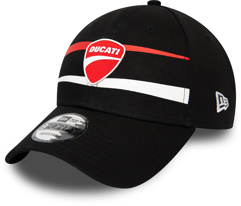 Ducati SP20 Stripe New Era 940 Black Snapback Cap - pumpheadgear, baseball caps