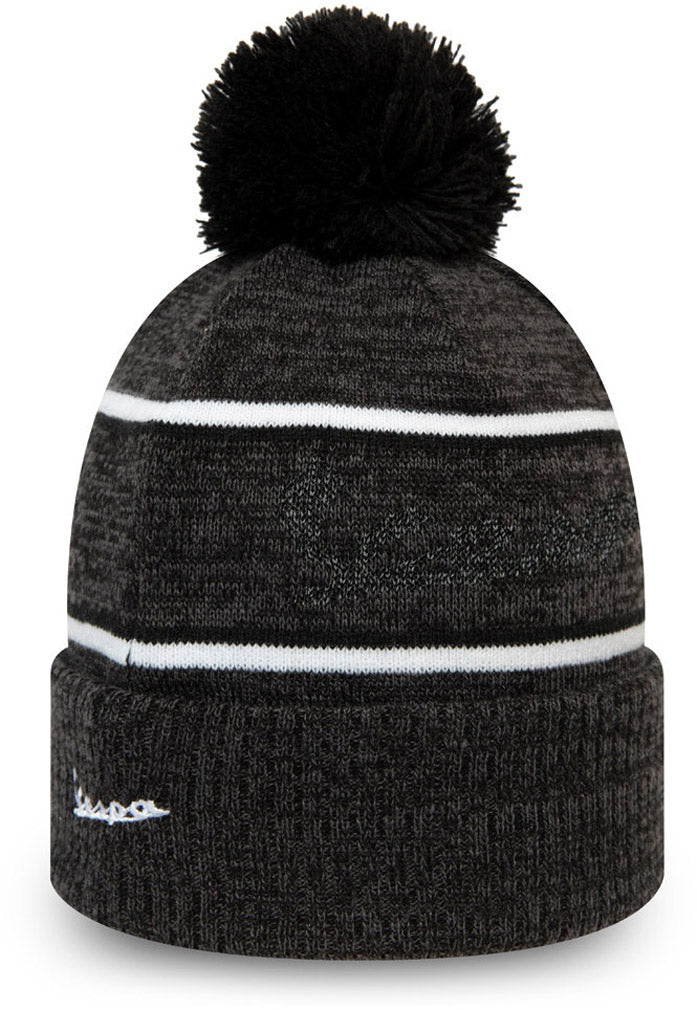 Vespa Reflect Script New Era Graphite Bobble Hat - pumpheadgear, baseball caps