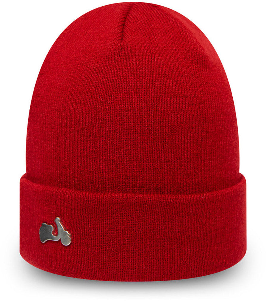 Vespa Pin Cuff Knit New Era Scarlet Beanie - pumpheadgear, baseball caps