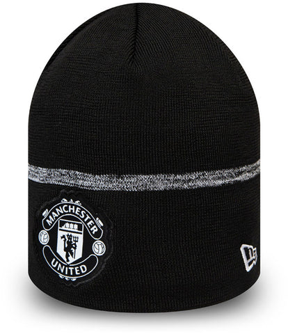 Manchester United New Era 2020 Black Skull Knit Beanie - pumpheadgear, baseball caps