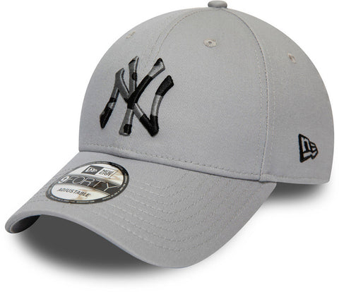 NY Yankees Kids New Era 940 Camo Infill Grey Baseball Cap (Ages 2 - 10 years) - pumpheadgear, baseball caps