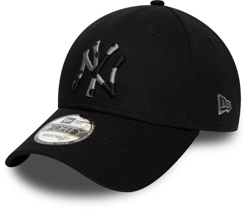 NY Yankees Kids New Era 940 Camo Infill Black Baseball Cap (Ages 2 - 10 years) - pumpheadgear, baseball caps
