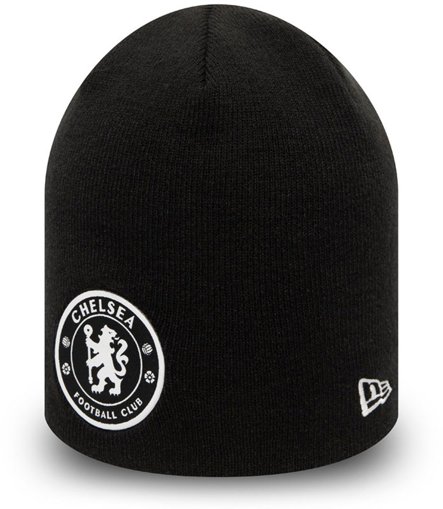 Chelsea FC New Era Black Skull Knit Beanie - pumpheadgear, baseball caps