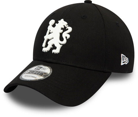 Chelsea FC New Era 940 Rubber Logo Black Cap