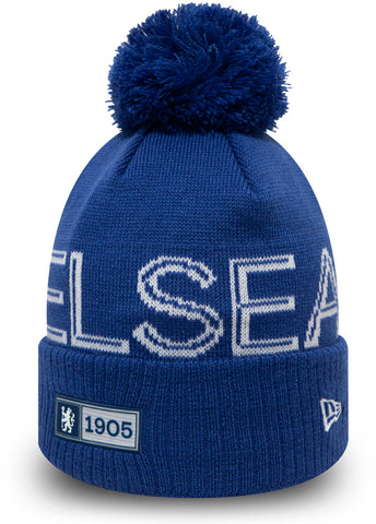 Chelsea FC New Era Established Knit Bobble Hat - pumpheadgear, baseball caps
